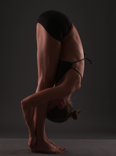 padahastasana or hands to feet pose