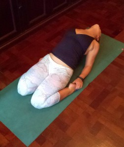 Saddle is a great hip flexor stretch as well as lumbar spine opener.